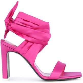 ATTICO Lace Up Sandal Satin
