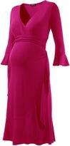 Isabella Oliver Ruffle Wrap Dress