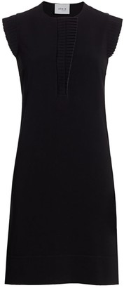 Akris Punto Sleeveless Plisse Detail Shift Dress