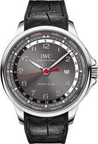 IWC IW326602 Portugeiser stainless steel automatic leather strap watch