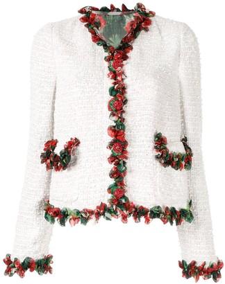 Dolce & Gabbana Ruffle-Trim Tweed Jacket
