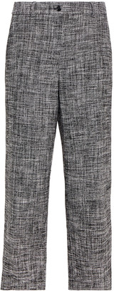 Boutique Moschino Cropped Cotton-blend Tweed Straight-leg Pants