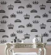 Graham & Brown Blackwhite crowns & coronets wallpaper