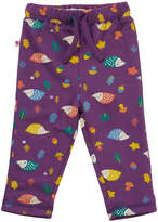 Piccalilly Unisex Purple Hedgehog Baby Reversible Trousers