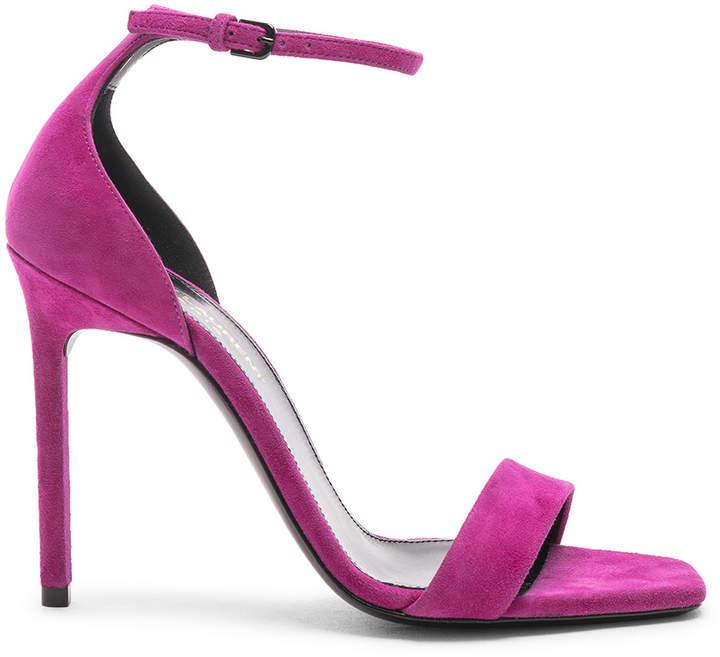 Saint Laurent Lou Lou Heels in Pink | FWRD