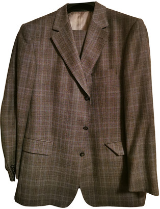 Burberry Anthracite Wool Suits