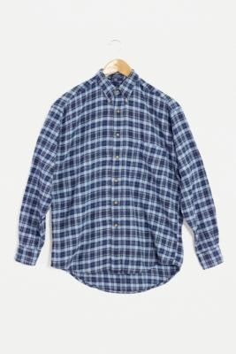 Urban Renewal Vintage Light Blue Oversized Checked Shirt - Blue ALL at Urban Outfitters