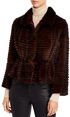 Maximilian Furs Maximilian Mink Corduroy Drawcord Coat
