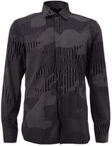 Neil Barrett stripe camouflage shirt
