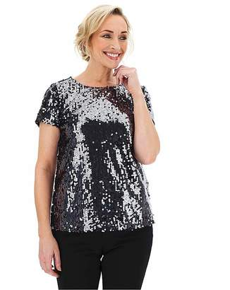 Capsule Pewter Sequin T-Shirt