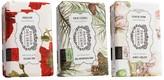 Panier des Sens Set of 3 Authentic Soaps - Mediterranean Pine, Cotton Flower, Red Poppies