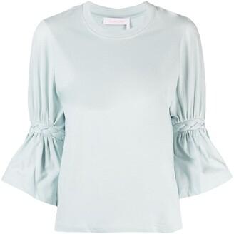 See by Chloe braided sleeve T-shirt