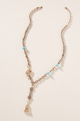 Dannijo Eliza Lariat Necklace By in Gold Size ALL