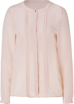 Hugo Silk Etiny Blouse in Light Pastel Pink