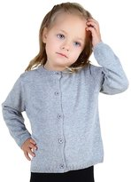 YOUJIA Unisex Cardigan Kids Solid Color O-Neck Knit Sweater Tops (110cm)