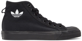 adidas Black Nizza Hi Sneakers
