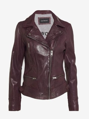 Oakwood Video Leather Biker Jacket Plum - S
