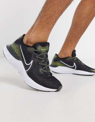 Nike Running Renew Run SE sneakers in black