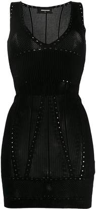 DSQUARED2 V-neck knitted mini dress