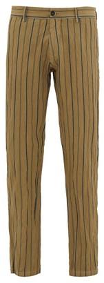 Barena Rionero Striped Slim-leg Trousers - Green Multi