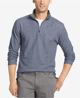 Izod Men's Marled Quarter Zip Light Weight Fleece Pullover
