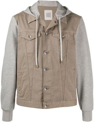Eleventy Hooded Denim Jacket