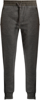 Burberry Leather-trimmed wool-blend track pants