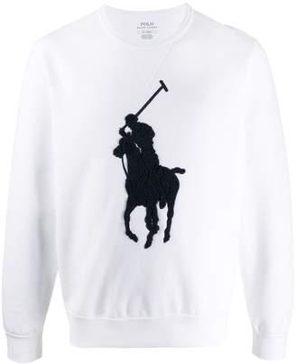 Polo Ralph Lauren oversize logo embroidered jumper