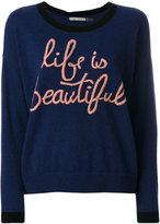Alice + Olivia Alice+Olivia - Life Is Beautiful sweater - women - Cotton/Nylon/Spandex/Elastane/Wool - S