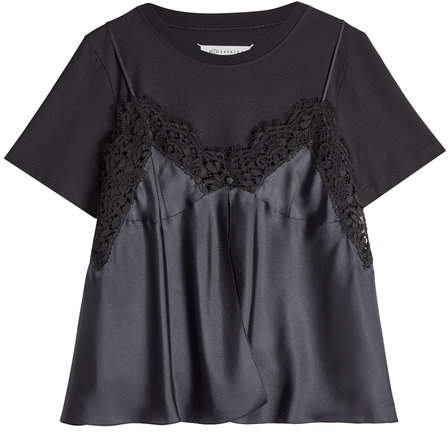 Maison Margiela Lace Cami Layered T-Shirt