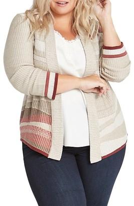 NIC+ZOE, Plus Size Fall Air Knit Cardigan