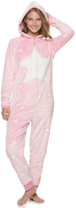 So Juniors' Hooded One-Piece Pajamas