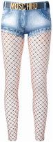 Moschino trompe-l'oeil denim short leggings - women - Polyester/Spandex/Elastane - 38