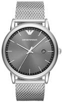 Emporio Armani Men's Slim Mesh Bracelet Watch