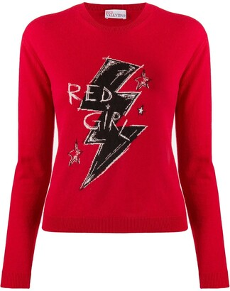 RED Valentino Red Girl knitted jumper