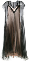 Lanvin layered effect dress - women - Silk/Polyamide/Acetate/Viscose - 40