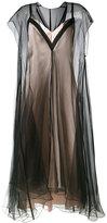 Lanvin layered effect dress - women - Silk/Polyamide/Viscose/Acetate - 40