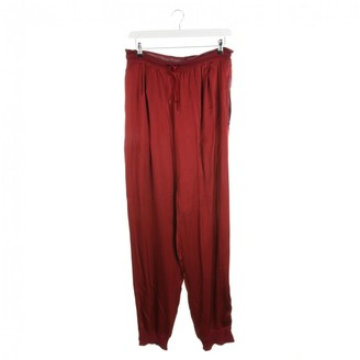 Jean Paul Gaultier Red Cotton Trousers