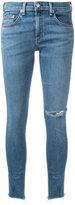 Rag & Bone Jean frayed hem skinny jeans