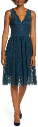Brinker & Eliza Lace Fit & Flare Dress