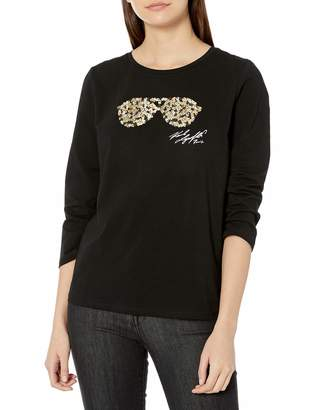 Karl Lagerfeld Paris Women's 3/4 Sleeve t-Shirt