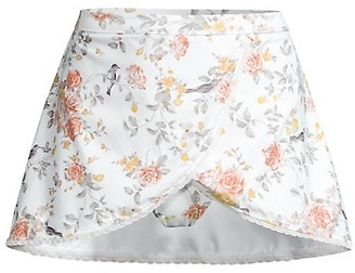 WeWoreWhat Floral Skirt Bikini Bottom