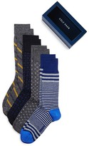 Cole Haan Assorted Pattern Dress Socks Box Set - Pack of 4