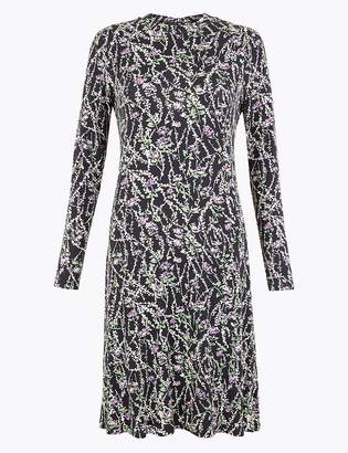 Marks and Spencer Jersey Floral Swing Dress