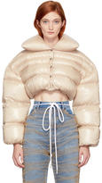 Off-White Pink Down Cropped Jacket