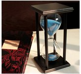 Love Home loveUshop Wooden Black Frame 60 mins' Sandglass Hourglass Sand Timer, Sand