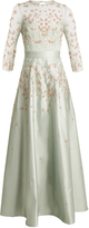 Temperley London Glen embroidered satin dress