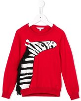 Little Marc Jacobs zebra intarsia jumper