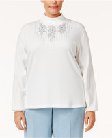 Alfred Dunner Plus Size Northern Lights Collection Embroidered Jacket