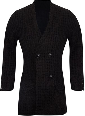 Adiba Gerbera Tweed Black Blazer
